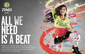 ZUMBA Kids: Friday September 8th @ 5 PM (Ages 4-14)