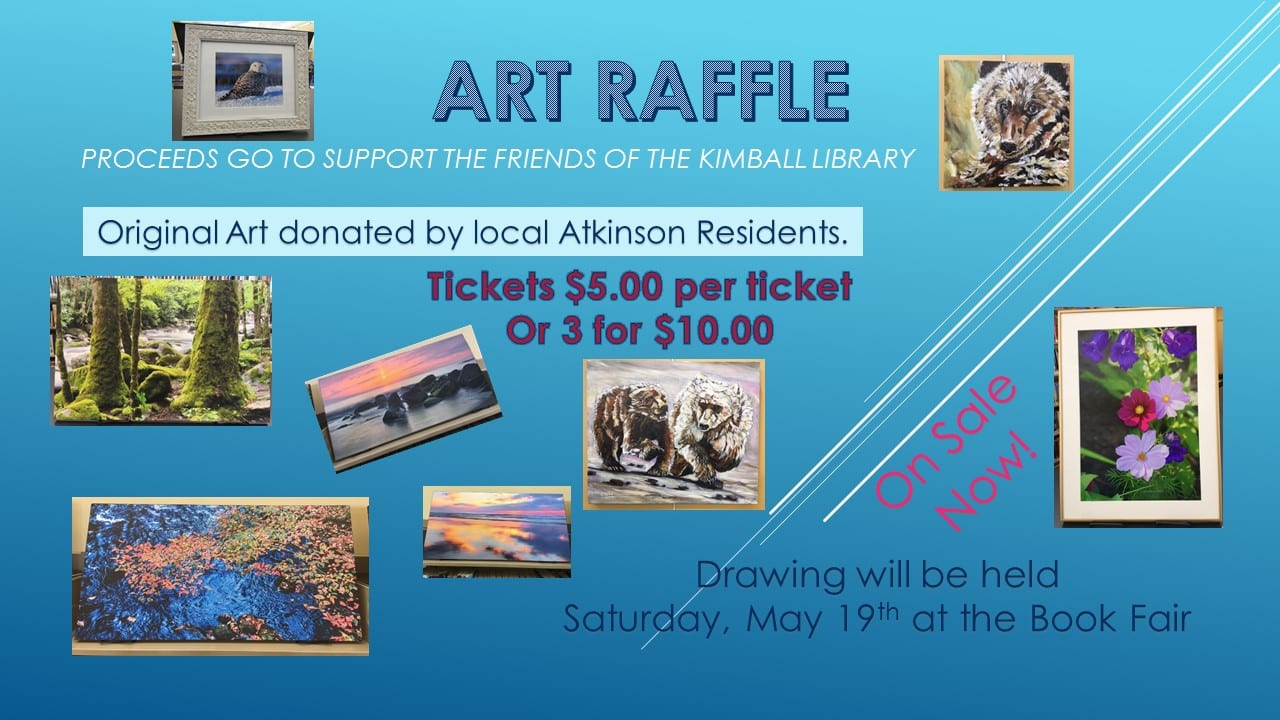 ART RAFFLE ~ Drawing will be May 19, 2018