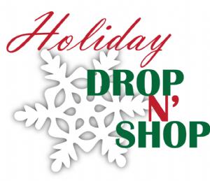 Holiday Drop n' Shop : Saturday, Dec 7th 10:15 AM – 2:30 PM (Grades K-5) (Registration Required)